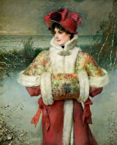 George Henry Boughton - The lady of the snows