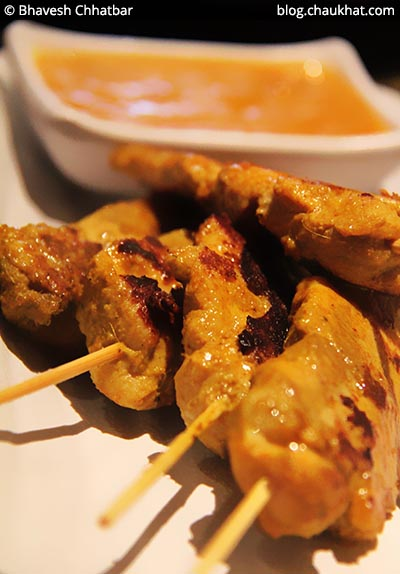 Malay Style Chicken Satay at Shizusan (The Asian Bistro) in Phoenix Market City at Viman Nagar area of Pune