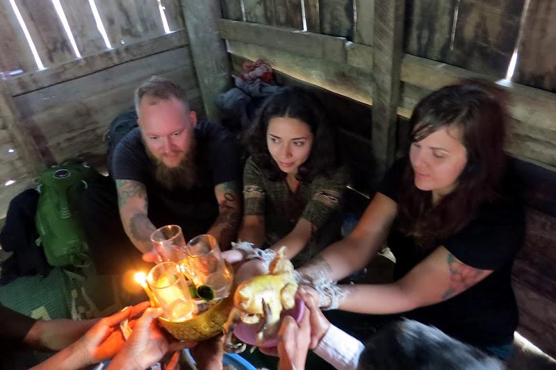 Tony, Alicia and Jena ceremonially