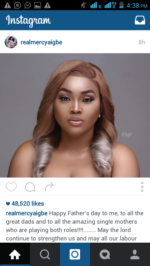 MercyAigbe Calls Herself A Father Wishes Herself Fathers Day