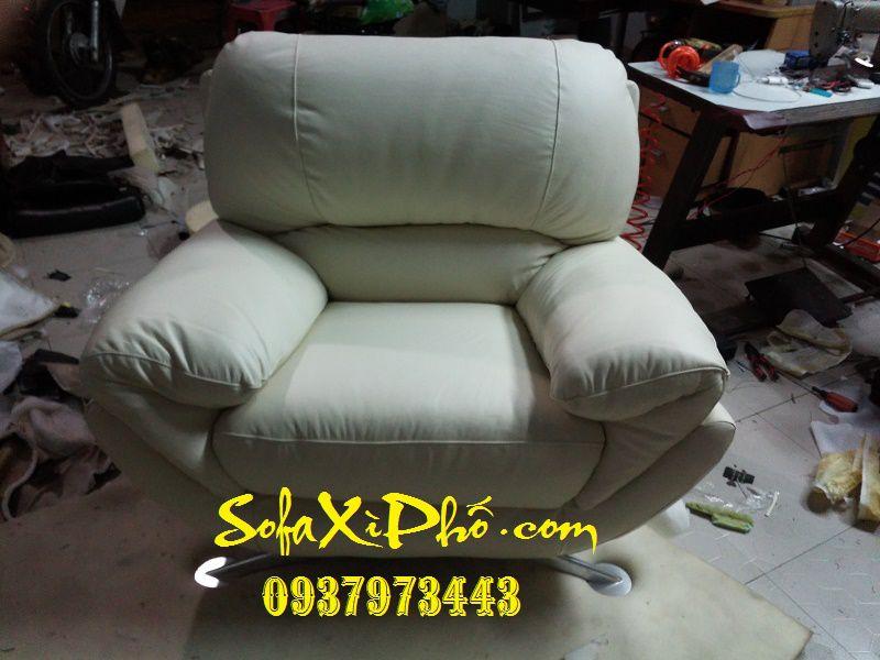 Sửa ghế sofa da bò ý - Bọc nệm ghế sofa ghế salon tai hcm