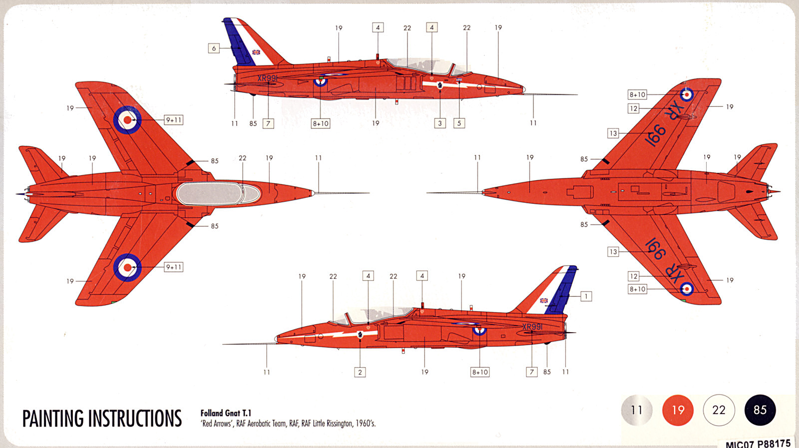 The Airfix Tribute Forum - • View topic - Airfix 1/72 Red Arrows ...