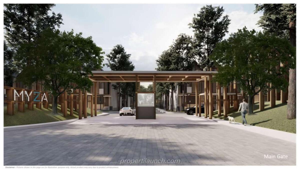 Gerbang Perumahan Myza Flat House BSD