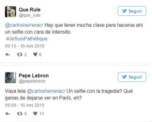 Seguidores de Carlos Herrera en Twitter reaccionaron molestos con el selfie publicado.