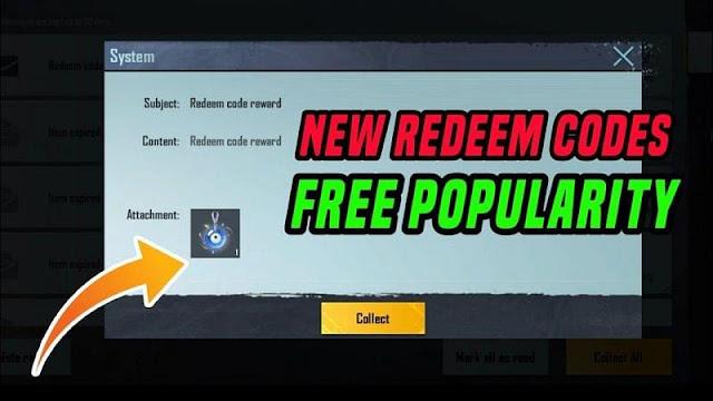 PUBG Mobile Redeem Kodları (26 Ekim): Ücretsiz popülerlik hediye etmek için başka bir kod