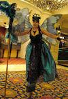 Blue Fairy on stilts