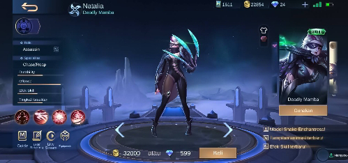 Skin Terkeren Hero Natalia di Mobile Legends