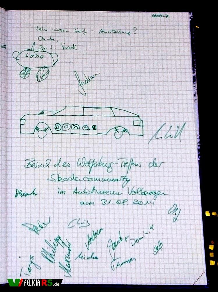 Die Kinder haben sich auch noch kurz verewigt und viele haben noch unterschrieben.