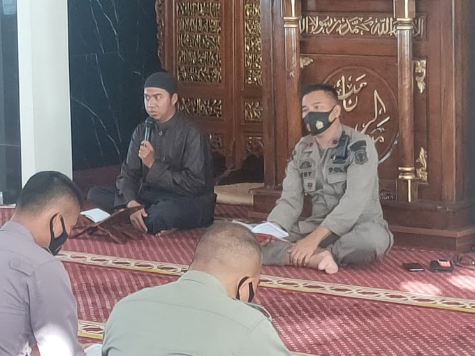 Tingkatkan Iman dan Taqwa, Brimob Yon A Pelopor Laksanakan Binrohtal