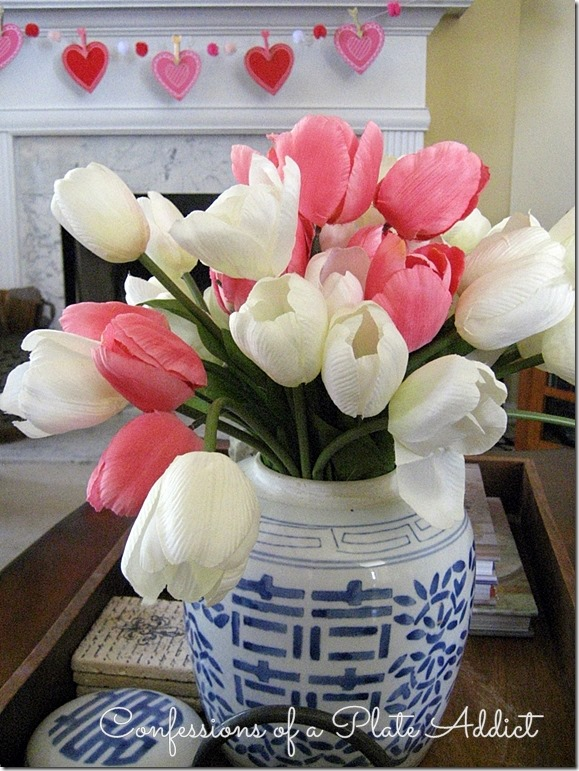 CONFESSIONS OF A PLATE ADDICT Tulips in Double Happiness Jar