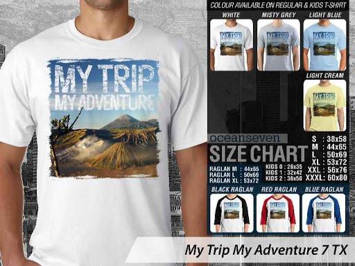 Kaos Wisata Indonesia My Trip My Adventure 7 distro ocean seven