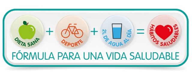 formula para una vida saludable infografia