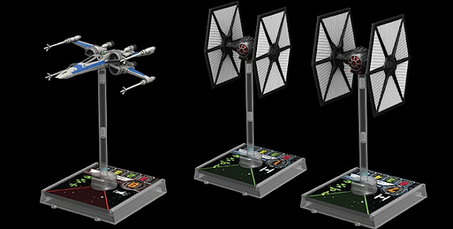 Alas-X T-70 y TIE/FO Fighter de X-Wing miniatures game
