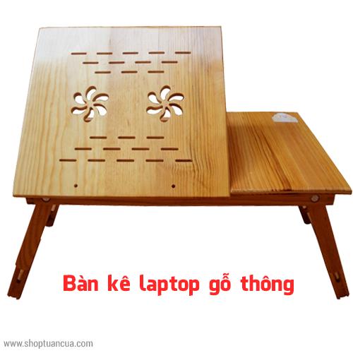 bàn để laptop gỗ thông