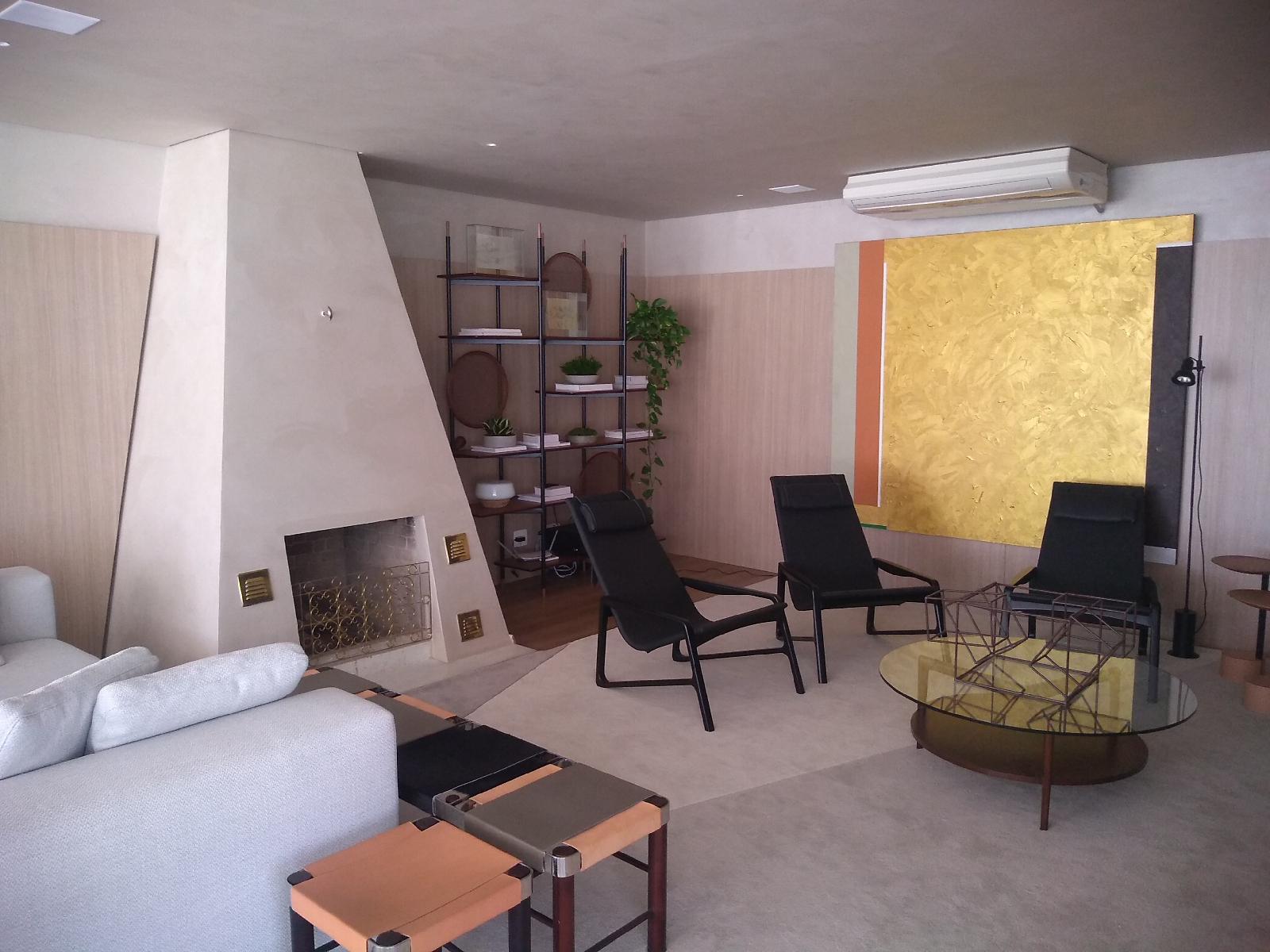 Ambiente com pintura decorativa Velvet