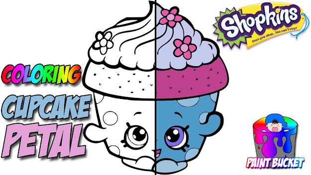 Shopkins Coloring Page  Cupcake Petal  Shopkins Coloring Book For Kids To  Learn Colors