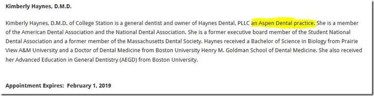 Gov  Abbott Appoints Aspen Dental Dentist to to Texas State