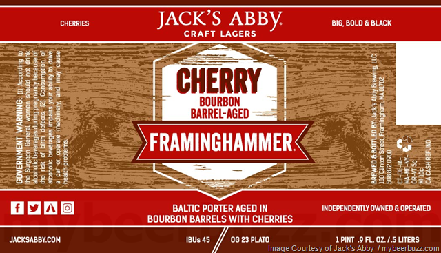 Jack's Abby Adding Cherry Bourbon Barrel Framminghammer