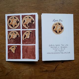 Mince Pies :: www.AliceDrawsTheLine.co.uk