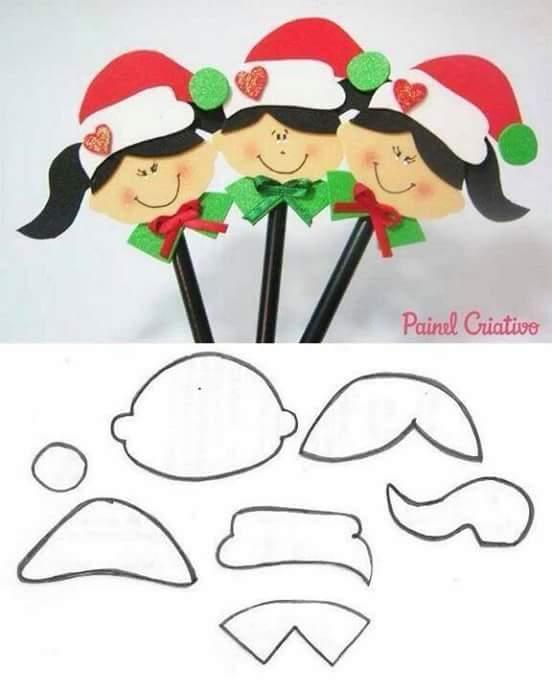 Mi Fiesta Creativa: Manualidades navideñas con moldes