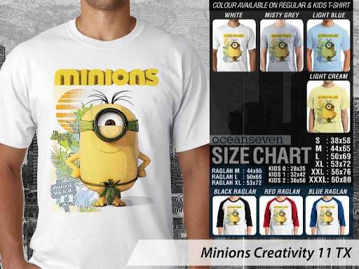 Kaos Kartun Minions Creativity 11 distro ocean seven
