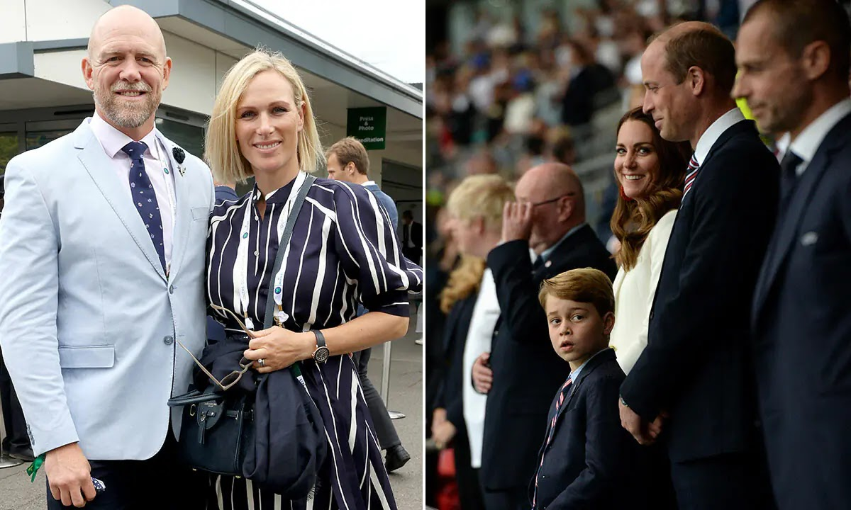 Zara and Mike Tindall Joined Prince William at England's Euro 2020 final