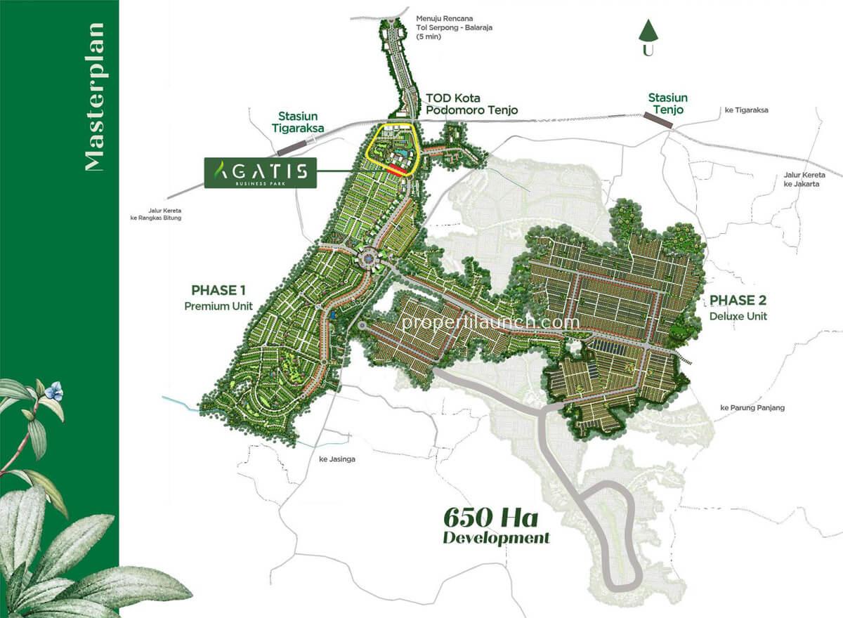 Lokasi Ruko Agatis di Master Plan Kota Podomoro