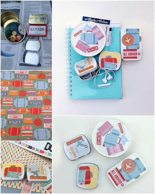 How to make travel tins with Mod Podge from Candy Tins
