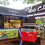 italian restaurant at the N Seoul tower in Korea - let's try a Twist Potato in Seoul, Seoul Special City, South Korea