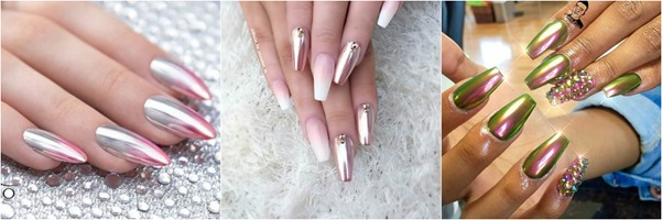 Metallic-Nail-Art - Ideas-Mystylespots- 2017
