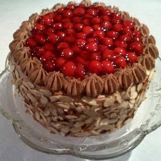 Chocolate & Cherry Amaretto Cake.