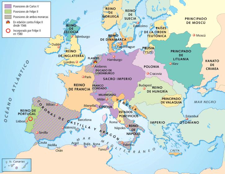 HISTORIA2010: MAPA EUROPA SIGLO XVI