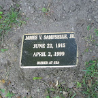 James V. Sampselle, Jr. Buried At Sea Husband of Anna Bob Rich Father of Alice Hix Abingdon Episcopal Church Cemetery White Marsh, Gloucester County, Virginia