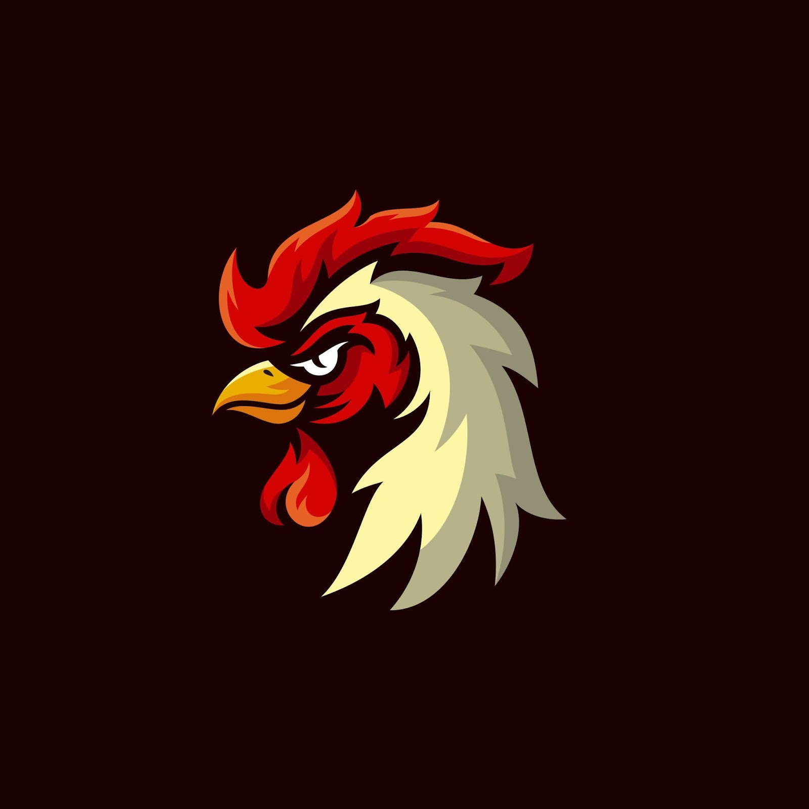 Rooster Mascot Logo Design Free Download Vector CDR, AI, EPS and PNG Formats