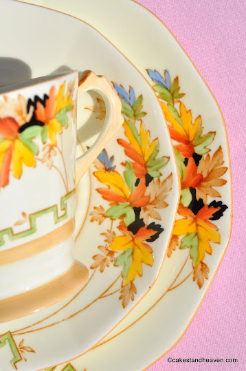Plant Tuscan Cream Bone China Trio c.1936