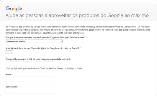 Por que participar do Google Programa Principais Colaboradores? - Visual Dicas