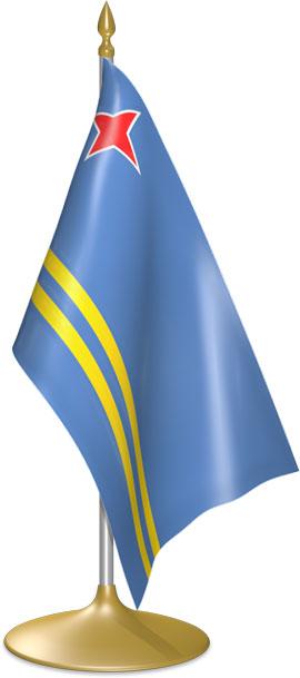 Aruban table flags - desk flags