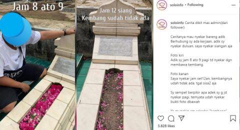 Baru Diziarahi Pagi Hari, Bunga di Makam Hilang Saat Siang Diduga Dicuri