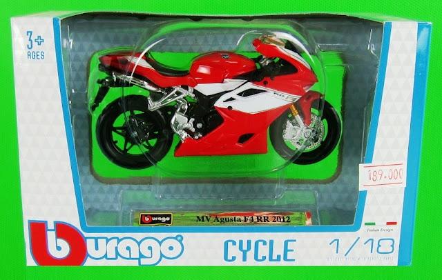 Sản phẩm MV Agusta F4 RR 2012 DieCast Motorcycle Model Scale 1:18 BBurago
