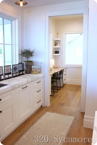 homework room by kitchen