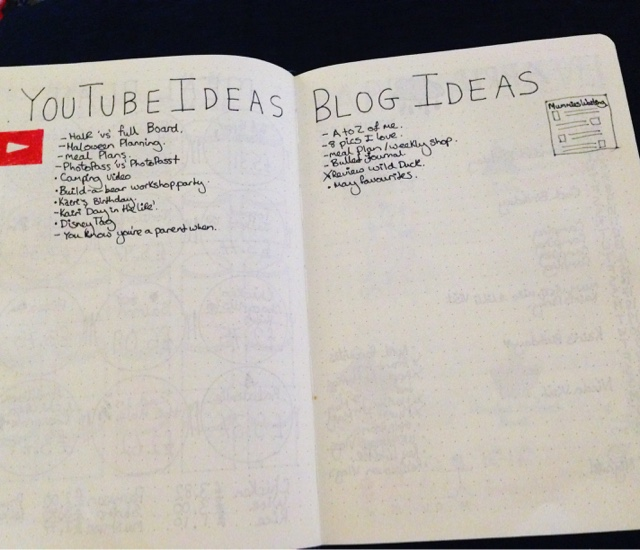 bullet journal  youtube and blog