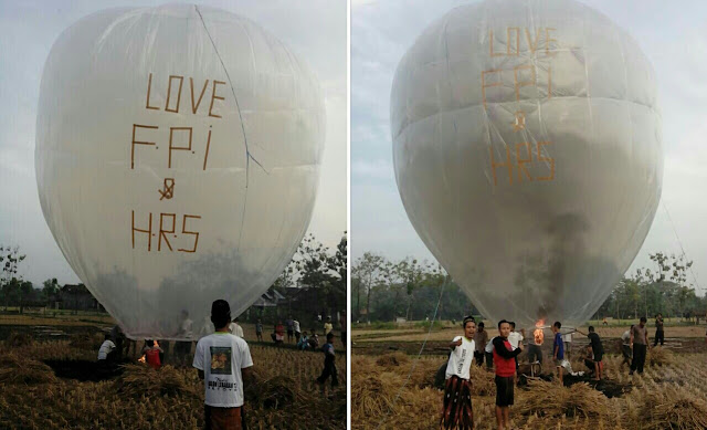 Balon udara dukungan untuk habib rizieq dan fpi