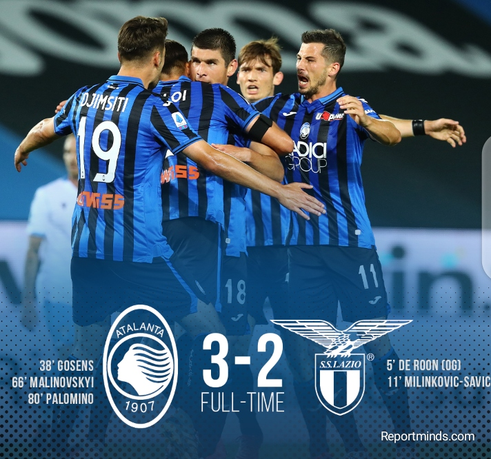 Serie A: Atalanta 3 vs 2 Lazio (Highlights) 2019-2020 - Report Minds