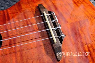 Harley Benton Kahuna CLU-42C ukulele bridge