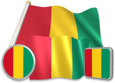 Guinean flag animated gif collection