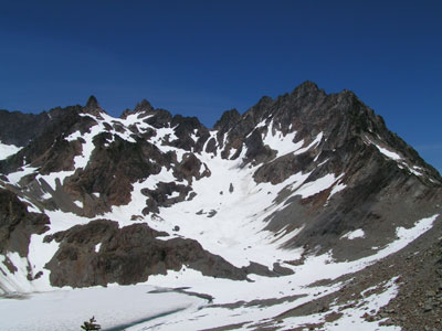 Mt Anderson, Flypaper Pass and frozen lake