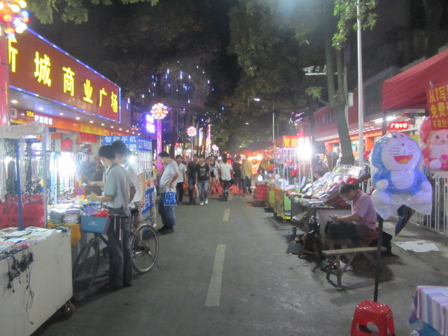 China. Night Market where they shut down the streets for vendors