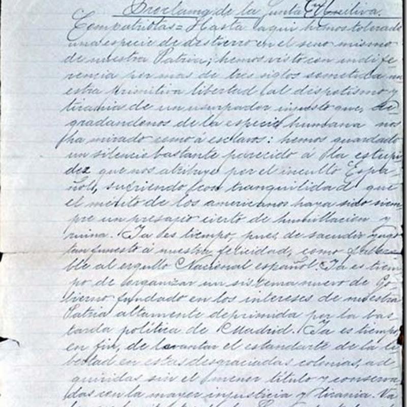 Proclama de la Junta Tuitiva (La Paz - Bolivia, 1809)