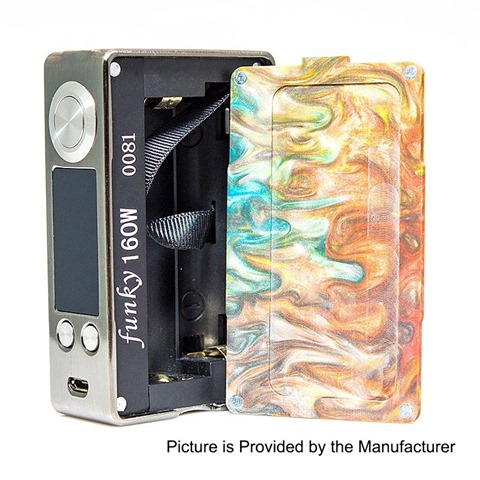 authentic aleader funky 160w tc vw variable wattage box mod silver random color ss resin 1160w 2 x 18650%2B%25281%2529 thumb%255B2%255D - 【海外】「ECT B40 2200mAh」「ECT Tough 2200mAh」「Nicomore M1 タンク 2ml」「Aleader Little Bee RDTA」「Vaporesso Swag 80W VW/TC MOD+NRG SEタンクキット」