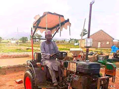 PHOTONEWS: Zaria Man Builds Locally Made Tractor, To Help Poor Farmers